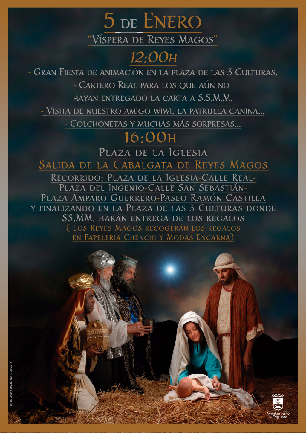 Los Reyes Magos will tour Frigiliana on January 5