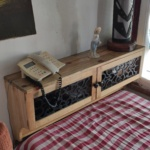 Reclaimed Pallet wood shelf with couboard